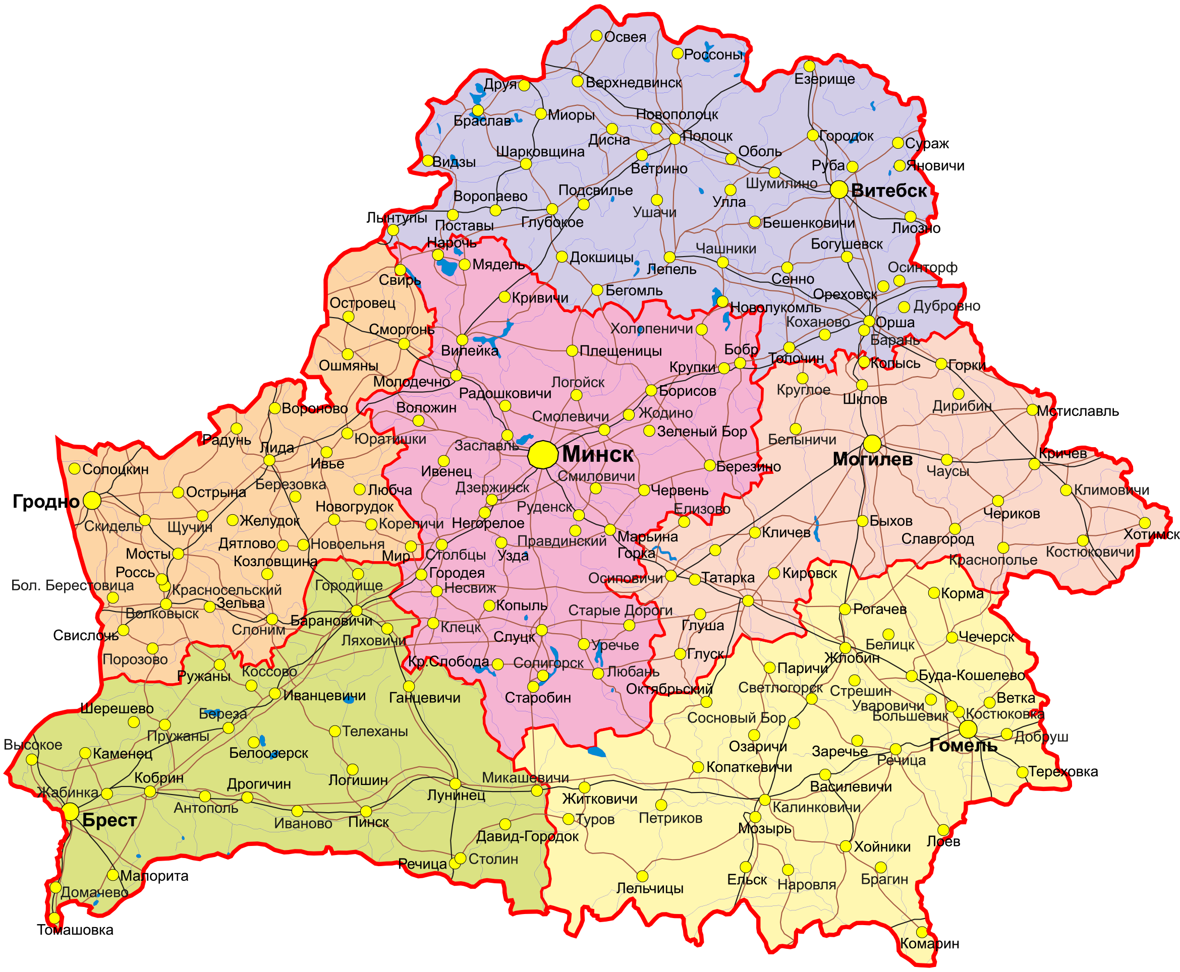 Карта Беларусь